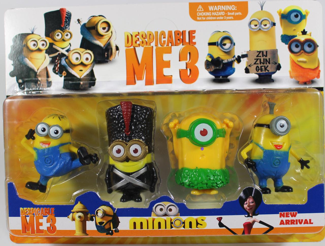 Набор героев Minions (Миньоны) 4 героя в коробке! 2 Вида! 587T