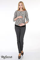 """Модные брюки для беременных """"Parker"""", из трикотажа джерси, темно-серый меланж"""