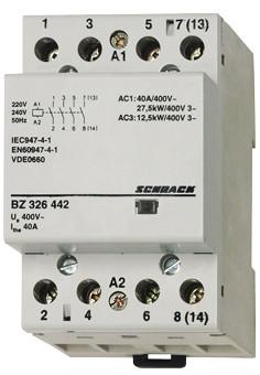 Контактор модульный BZ 40А 4НО 230В AC Schrack