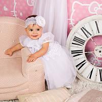Нарядное платье Глафира от Miminobaby белое на 3 годика