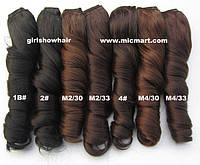 Накладные термо волосы для наращивания на заколках, затылочная прядь, кудрявые