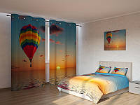 Фотокомплект  воздушный шар в закате
