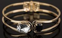 Женский металлический браслет с камнями