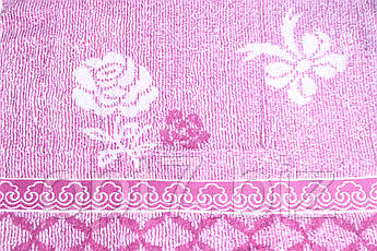 Махровое полотенце лицевое 50х100, фото 2