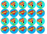 Любовь это... 1 Вафельная картинка