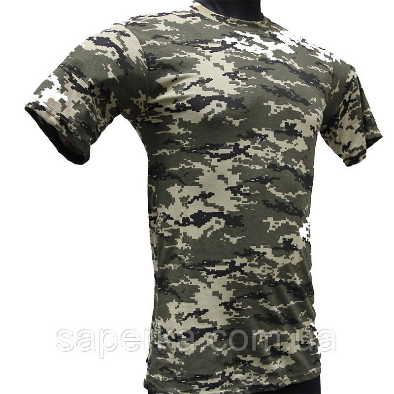 Камуфляжная тактическая футболка Пограничник 100% Х/Б