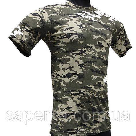Камуфляжная тактическая футболка Пограничник 100% Х/Б, фото 2