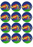 Любовь это... 4 Вафельная картинка