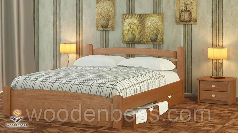 """Кровать двухспальная от """"Wooden Вoss"""" Эмма Люкс (спальное место - 180х190/200)"""