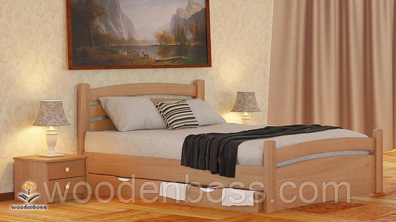 """Кровать двухспальная от """"Wooden Вoss"""" Эмма Экстра (спальное место - 180х190/200)"""