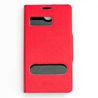 Чехол-книжка для Lenovo A706, боковой, Pielcedan, Красный /flip case/флип кейс /леново