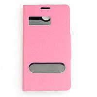 Чехол-книжка для Lenovo A706, боковой, Pielcedan, Розовый /flip case/флип кейс /леново