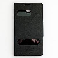 Чехол-книжка для Lenovo A706, боковой, Pielcedan, Черный /flip case/флип кейс /леново