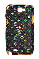 Чехол-накладка для Samsung Galaxy Note 2 N7100, Louis Vuitton, Черный /case/кейс /самсунг галакси