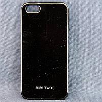 Чехол-накладка для Apple iPhone 5/5s, пластиковый, Buble Pack, Черный /case/кейс /айфон