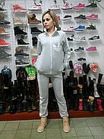 Женский спортивный костюм Adidas адидас серый с молнией удобный и модный
