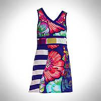 Платья летние платье платье летнее без рукавов, лиф с запахом, завышенная талия, широкий пояс, расклешенная юб