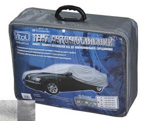 Тент автомобильный CC13401 М серый с подкладкой PEVA+PP Catton