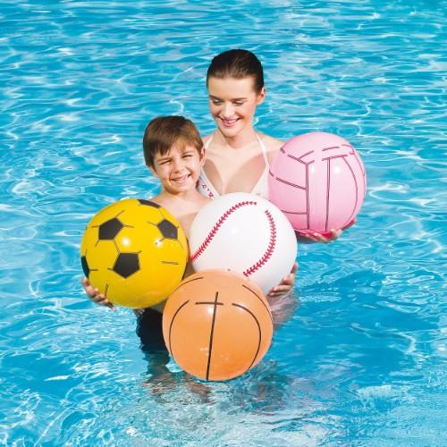 Мяч пляжный, спорт, 4 цвета 41см