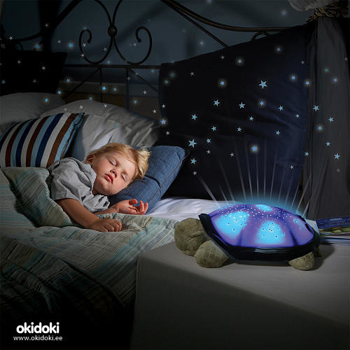 Светильник, ночник, проектор звездного неба «Черепаха»