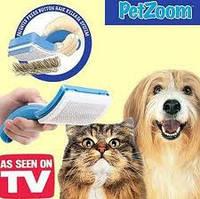 Расческа для собак, щетка для шерсти животных PETZOOM