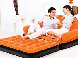 Диван (кровать) трансформер велюровый надувной 5 в 1 Bestway