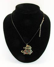 Кулоны (подвески, колье) на кожаном шнурке