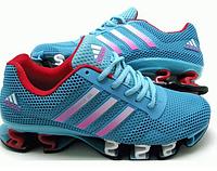 Кроссовки женские Adidas Bounce Titan голубые с красным