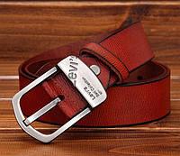 Мужской ремень.Мужской кожаный ремень Levi's. Ремень для джинсов. Кожаный. Стильный ремень. Ремни кожаные.