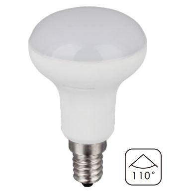 Світлодіодна лампа 6Вт 2900К з індексом кольоропередачі CRI90 грибочок цоколь Е14 R50 KF40T6 CIVILIGHT 7479