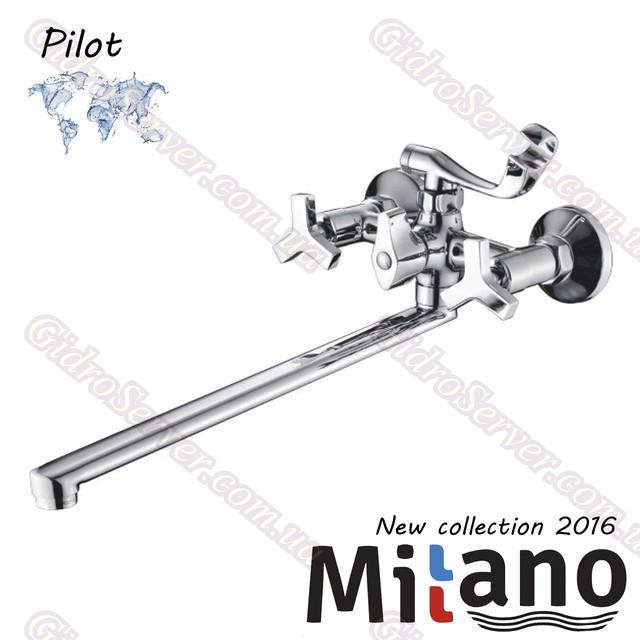 Смеситель для ванны и душа Pilot ML 200 ― 90P EURO с поворотным гусаком, двухвентельный.