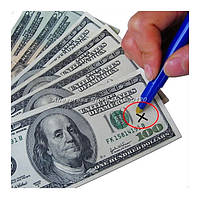 Маркер для проверки валют с фонариком, карандаш для проверки денег Euro Pen money tester