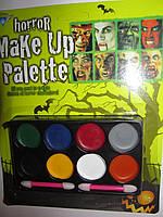 Грим для лица (краска) horror Make Up Palette 8 цветов