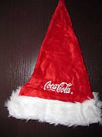 Шапка новогодняя Coca Cola с меховой отделкой, красная