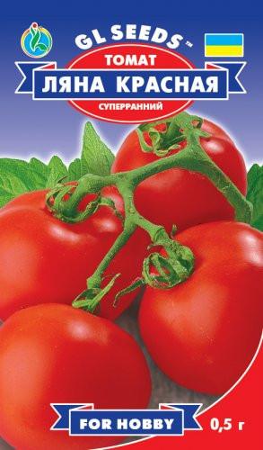 Семена томат  Ляна ультроскороспелый H=35-45 см. массой до 80 г.
