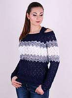 Женский пуловер- Радужный