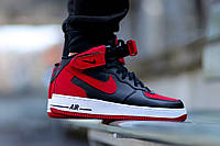 "Nike Air Force 1 Mid ""Black/Red"""