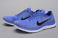 Кроссовки женские Nike free run 4 светло сиреневого цвета с черным