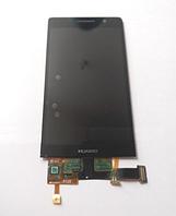 Оригинальный дисплей (модуль) + тачскрин (сенсор) для Huawei Ascend P6 (черный цвет)
