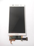 Оригинальный дисплей (модуль) + тачскрин (сенсор) для Huawei Ascend P6 (белый цвет)