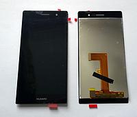 Оригинальный дисплей (модуль) + тачскрин (сенсор) для Huawei Ascend P7 (черный цвет)