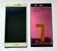 Оригинальный дисплей (модуль) + тачскрин (сенсор) для Huawei Ascend P7 (белый цвет)