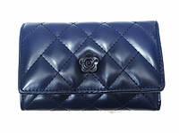 Женский кошелек Chanel (Шанель) TD8830 кожвинил синего цвета