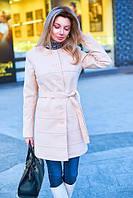 Пальто женское весеннее с подкладкой - Бежевый