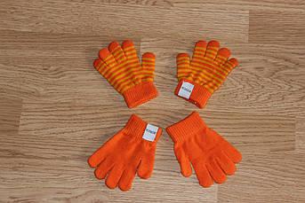 Перчатки Оранжевые детские 1 - 12 лет