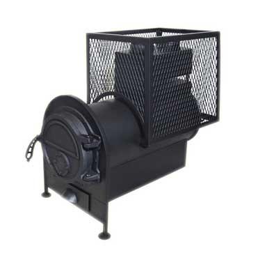 Банная печь с квадратной сеткой с выносной топкой