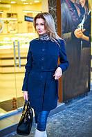 Пальто женское весеннее с подкладкой - Синий