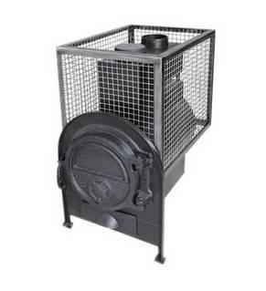 Печь для бани с квадратной сеткой без выносной топки, фото 2