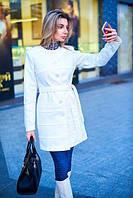 Пальто женское весеннее с подкладкой - Молочный