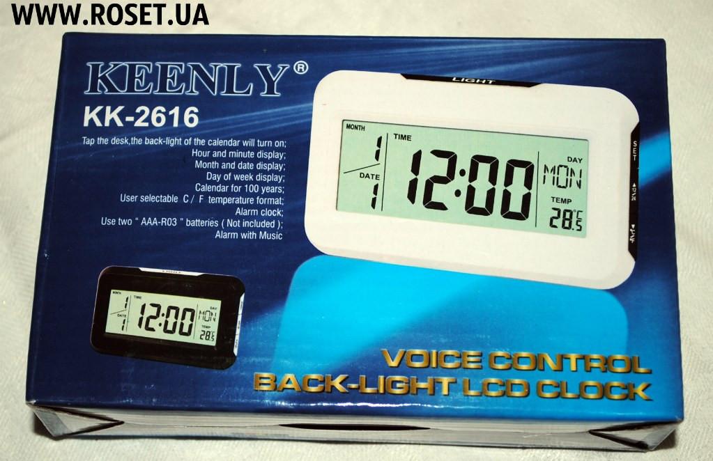 Компактные настольные электронные часы Keenly KK-2616 - Интернет-магазин  «Росет» в 56cf22bb86c